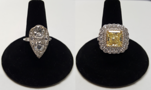 Custom Rings old mine cut and fancy yellow we buy diamonds we sell diamonds